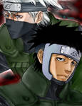 Tenzou and Kakashi