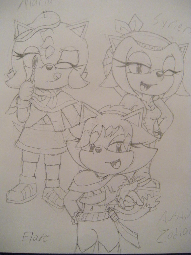 Flare, Syrien, and Maria 2 by Zodiac821
