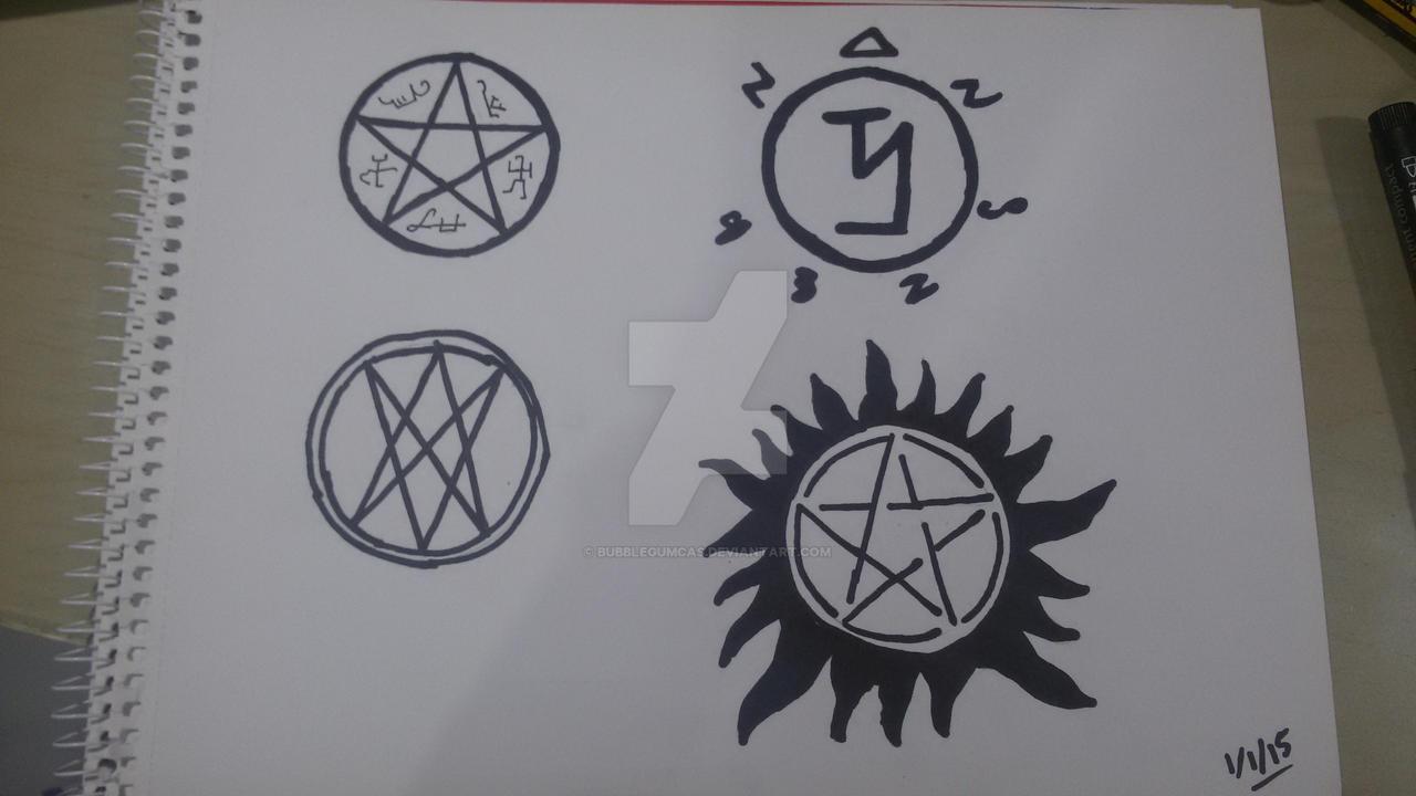how to draw supernatural symbols