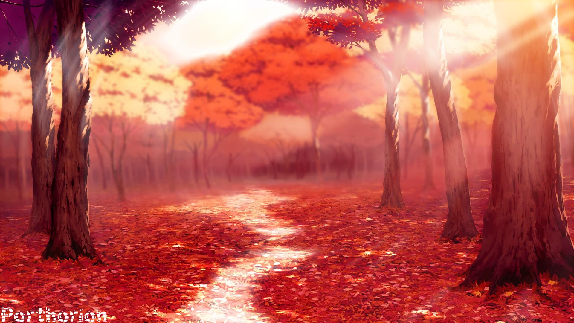 Fall Autemn Season Anime Style
