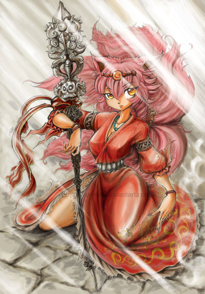 Devi and her staff by In-Sine