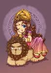 Durga chibi version