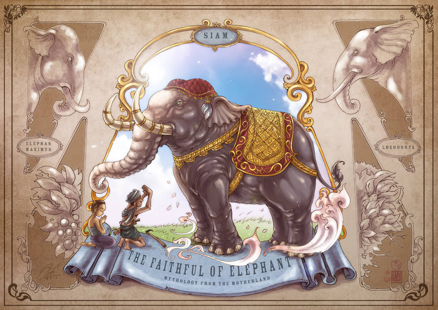The faithful of elephant by In-Sine