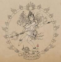 Shiva dance drawing