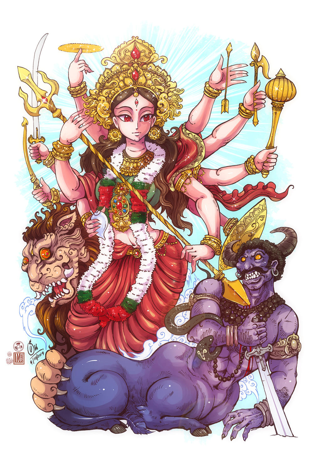 durga maa by in
