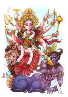 Durga Maa by In-Sine