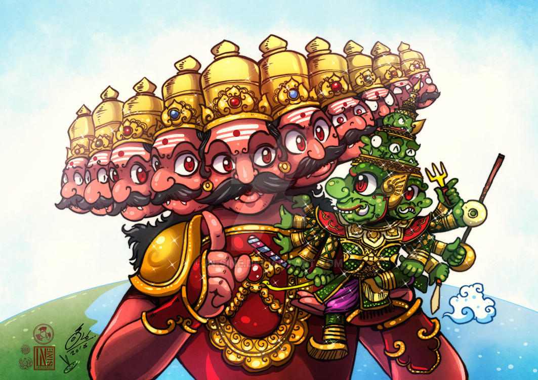 Ravana meet Tosakan by In-Sine