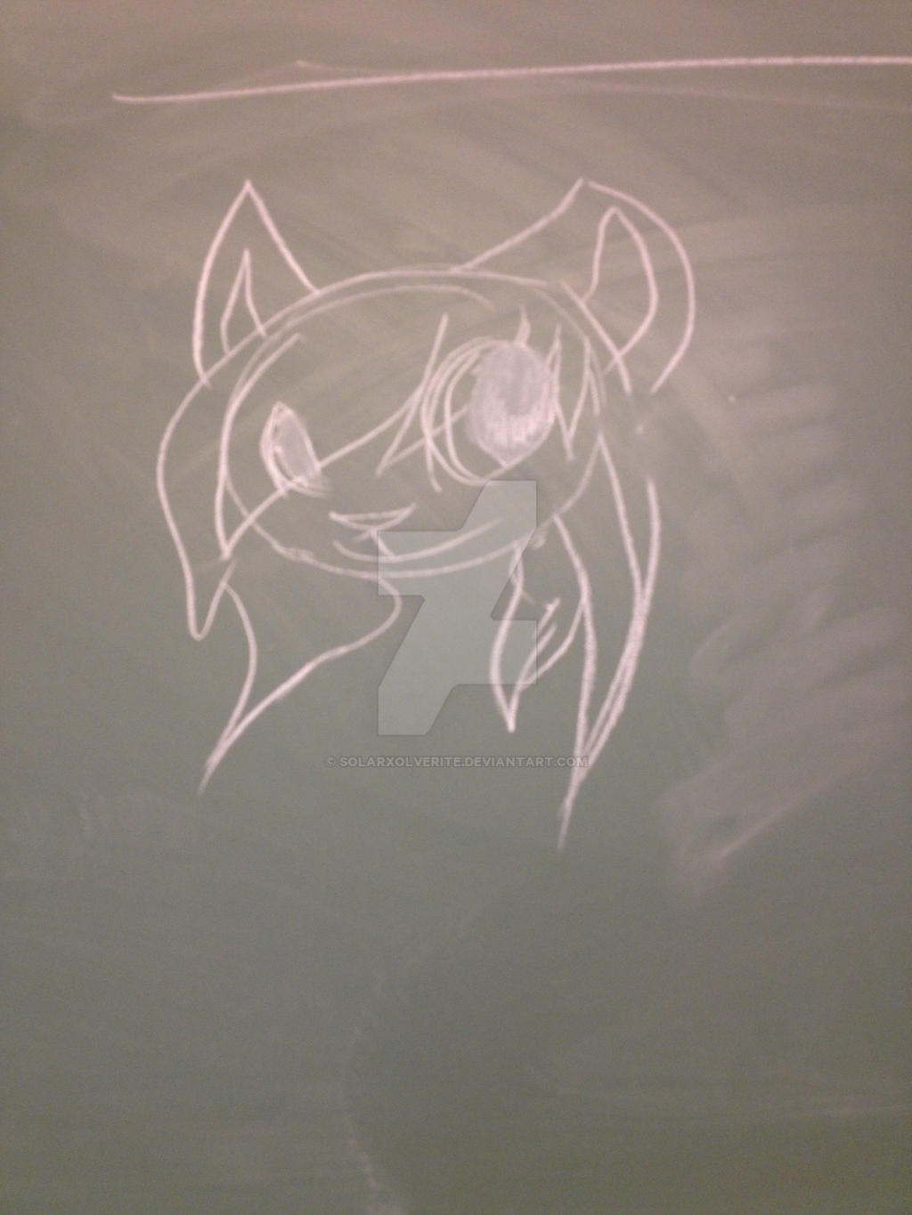 Cant draw digitaly? draw on blackboards xD by SolarXolverite