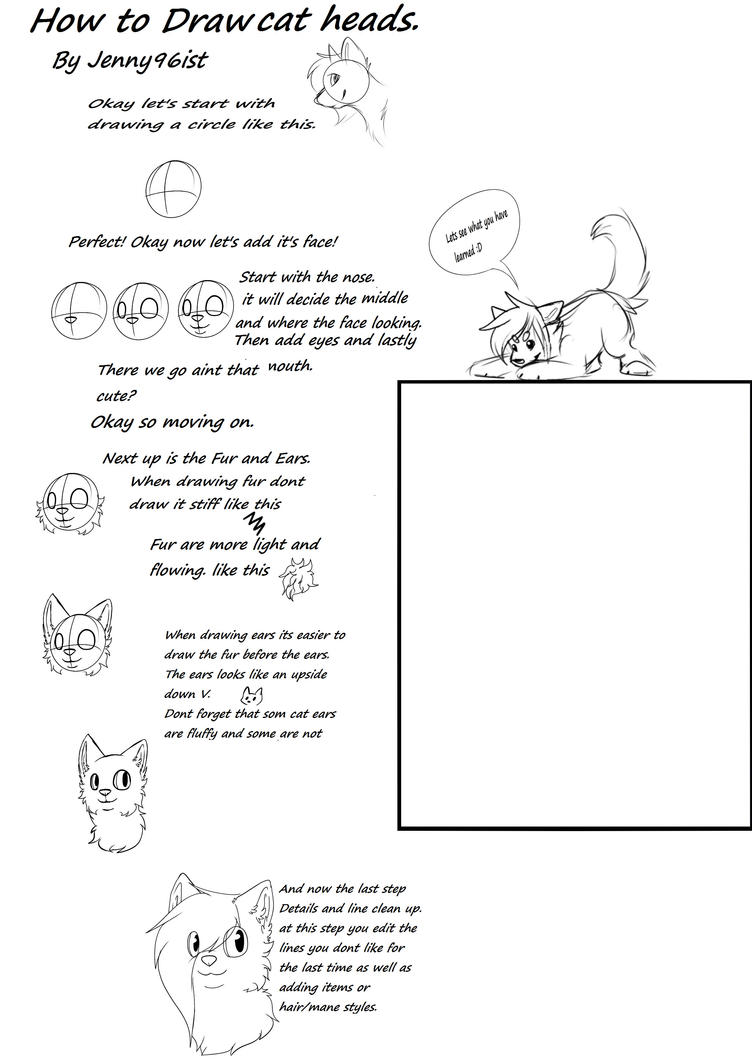 How to draw a Cat head by SolarXolverite