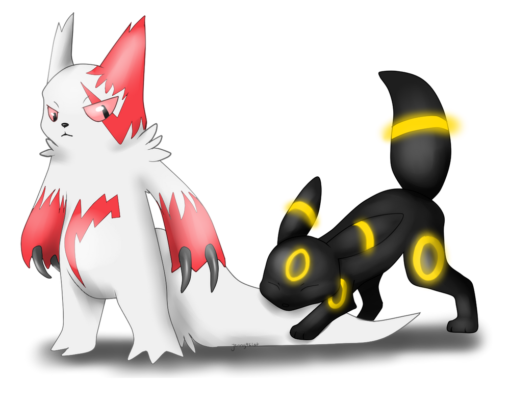 Zangoose And Umbreon by SolarXolverite