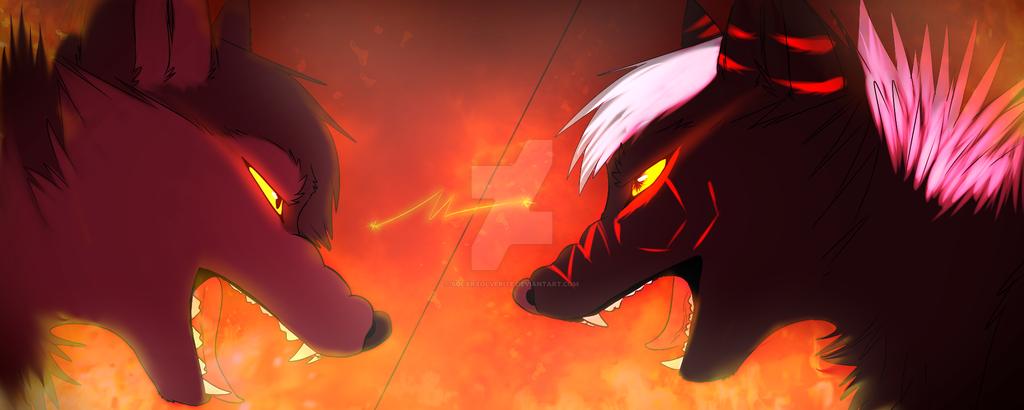Fight between demons by SolarXolverite