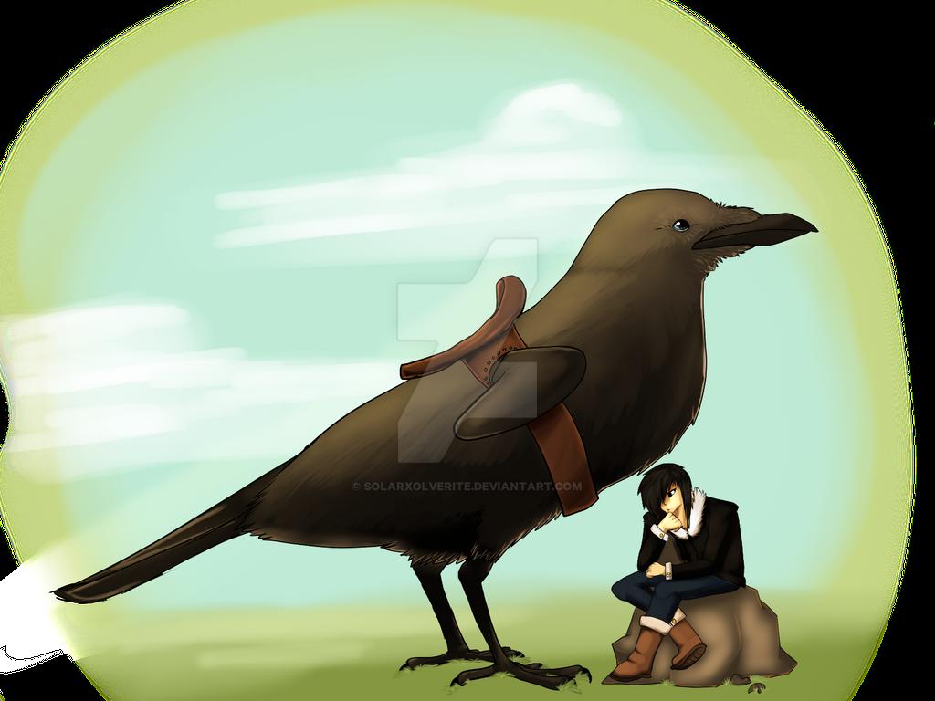 Emmet and his Bird by SolarXolverite