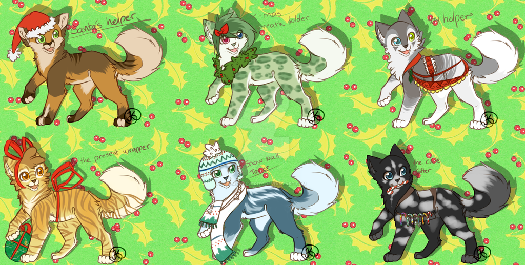 Christmas Adopts. by SolarXolverite