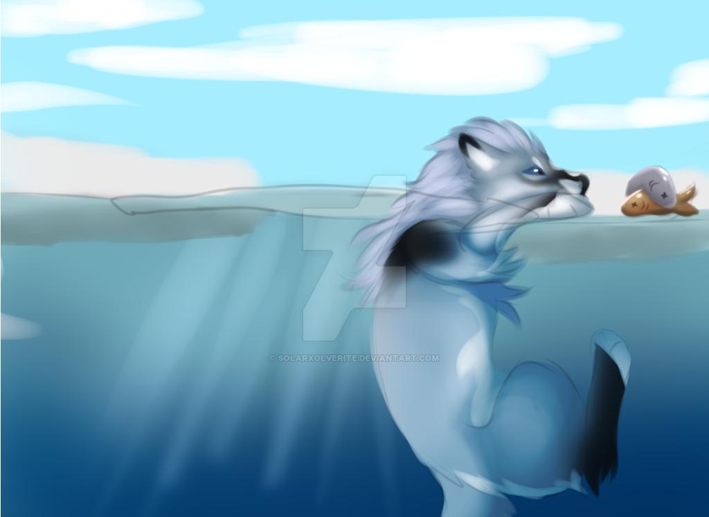 Saphire fishing3 by SolarXolverite