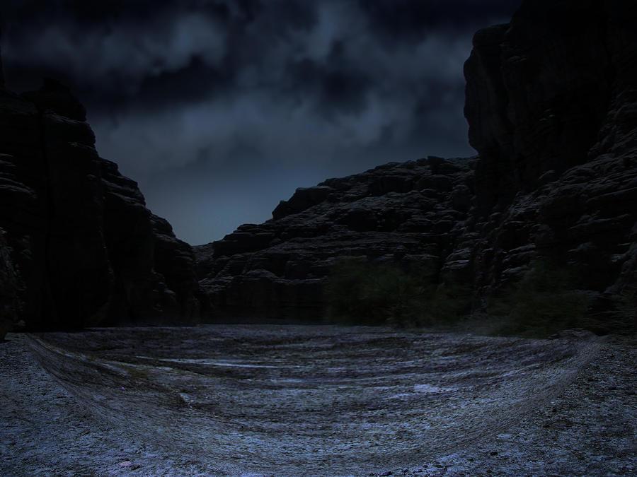 dark blue landscape by LuchareStock on deviantART