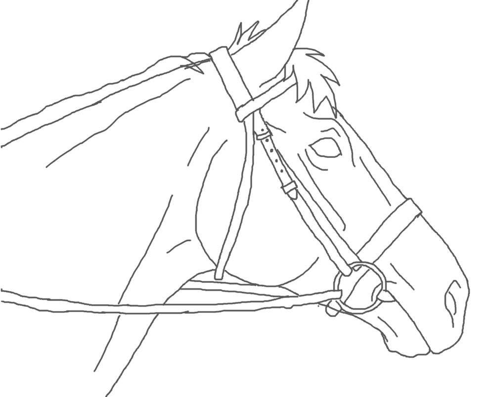 Free Use Horse Head Lineart By Arandomhorselover How To Draw A Scary Clown,  Step