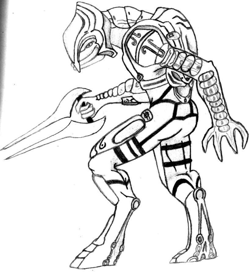 halo coloring pages online - halo 4 elite coloring pages coloring pages