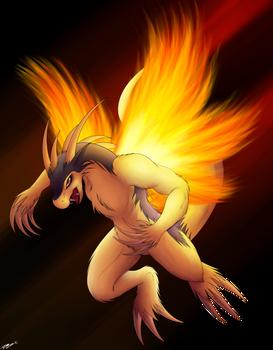 Typhlosion Dragon.