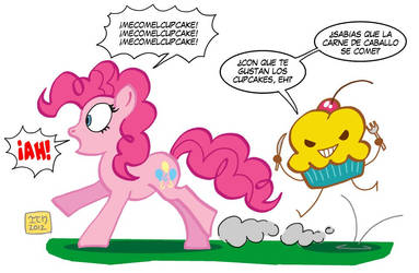 Pinkie Pie vs Graffiti Cupcake