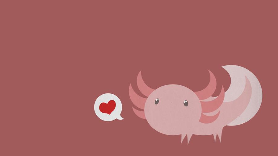 Axolotl wallpaper by AntisocialDinosaur on DeviantArt