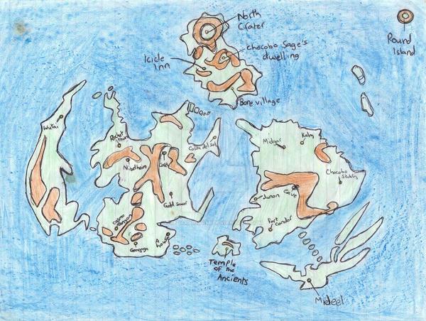 FF7 World Map by KedakaiOkami on DeviantArt