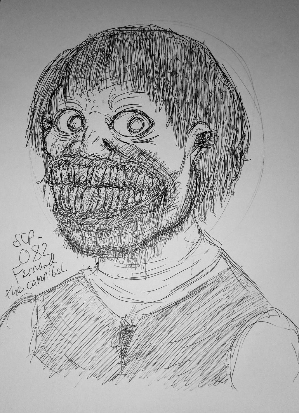 Scp 082 Fernand The Cannibal By Theboredashell On Deviantart Hard to know how to minimalize someone that's already a drawing, though. scp 082 fernand the cannibal by