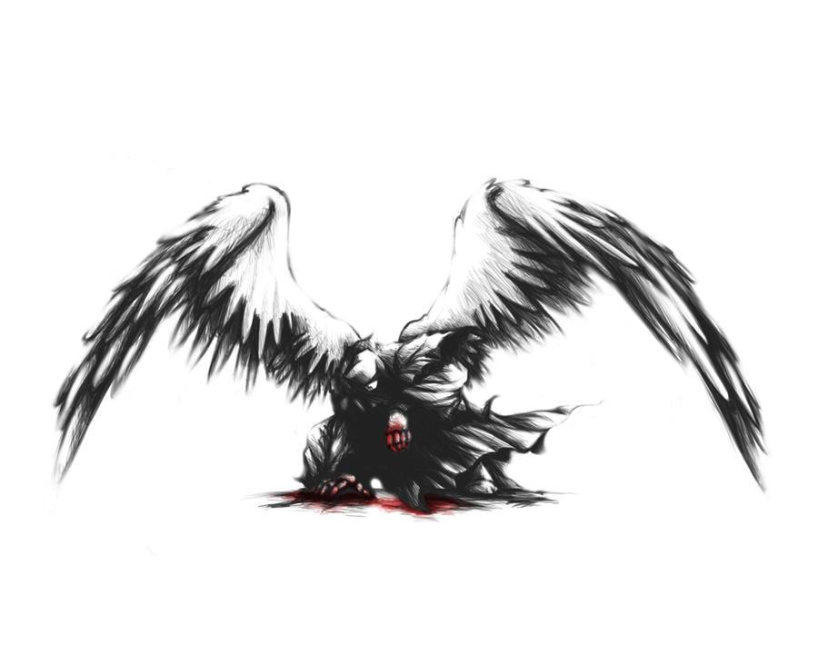 The Fallen Angel by ehioe