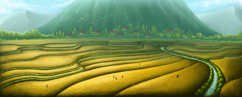 Paddy Field by ehioe