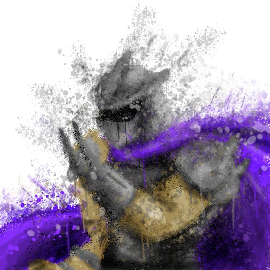 Shredder Splatter Art by Falling-Card