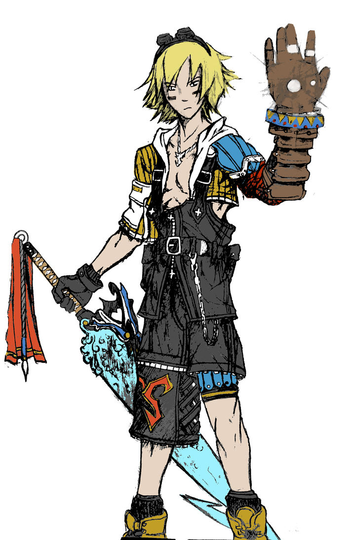 Tidus Ezreal by Falling-Card