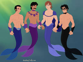 'Mah Bois' As Mermen by MouseAvenger