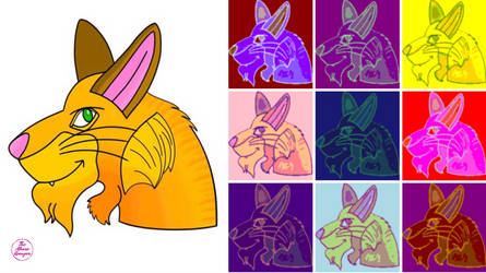 Wolf Tribrid And Warhol by MouseAvenger