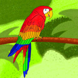Scarlet Macaw by MouseAvenger