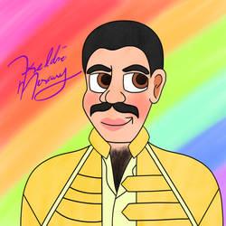 Freddie Mercury -- Portrait In Pastels