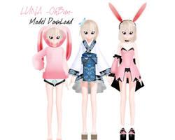 Luna -OhBun- Model Download by VocaloidKatia