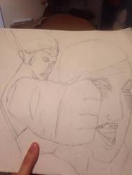 Wonder Woman Punching a dude by ComicsMaker9000