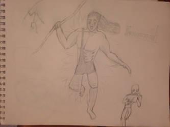 Tarzan and flash doodle by ComicsMaker9000