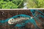 centipede by skyfishstreetart
