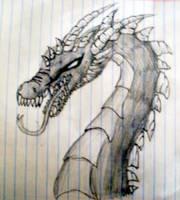 Dragon Sketch by metaknightepicness12