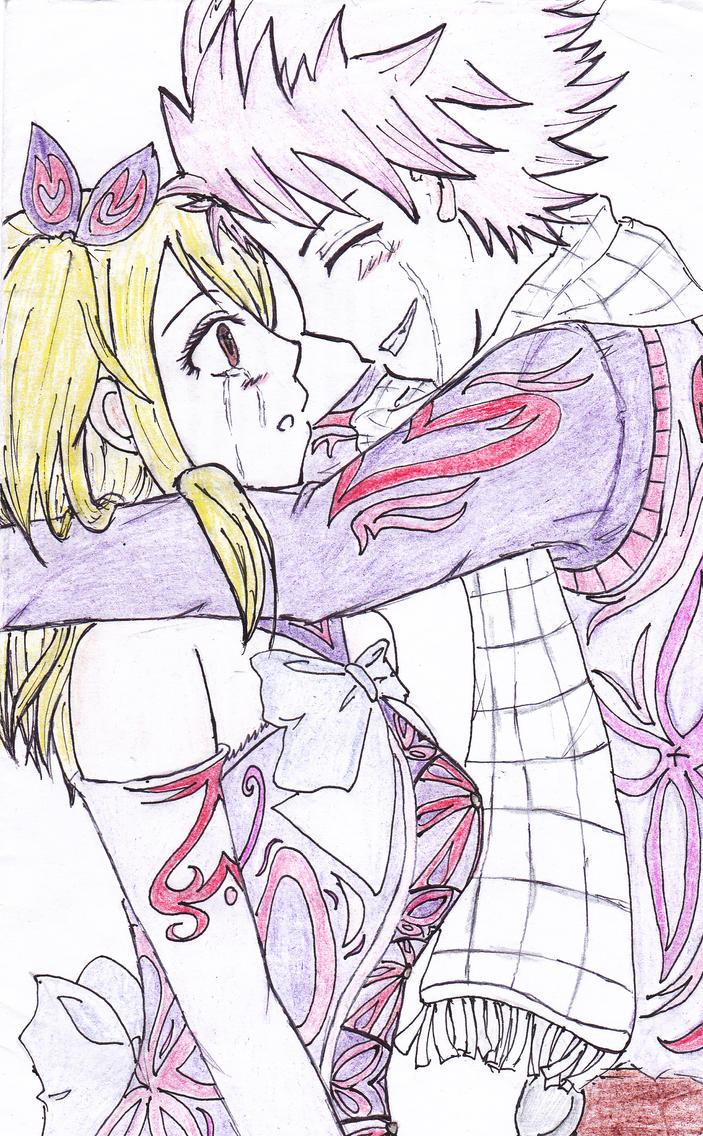 Natsu and Lucy's tears by narcyzus
