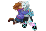 Fragmentale Frisk and Sans [with Speedpaint]