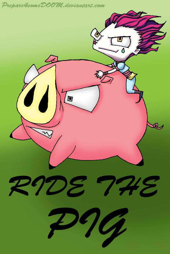 Hisoka Rides The Pig by Prepare4someDOOM
