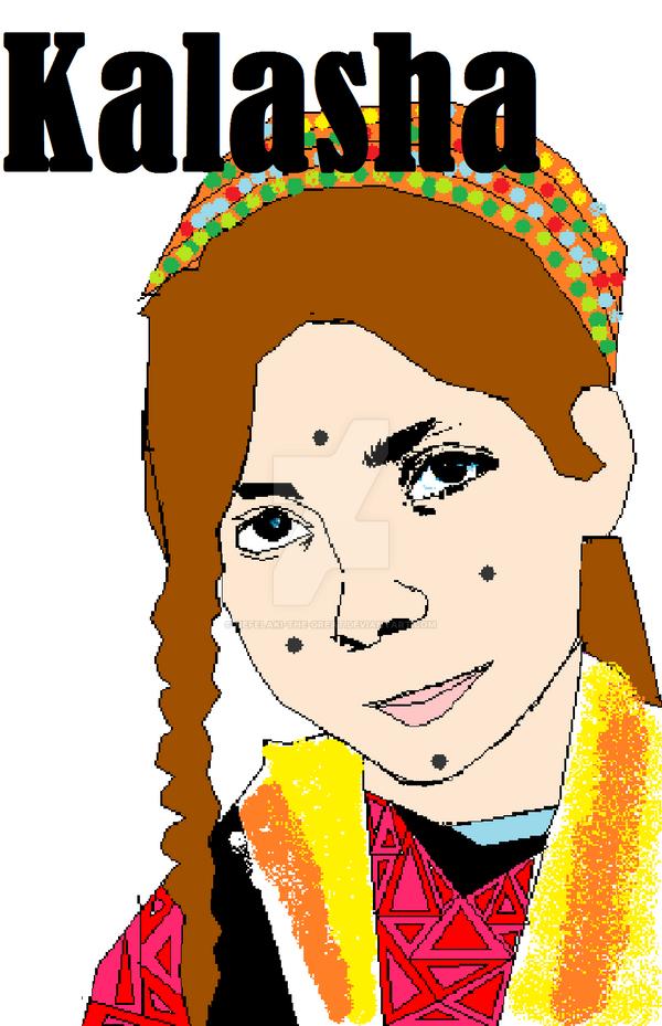 Kalasha Girl (Painting) by NEFELAKI-THE-GREAT
