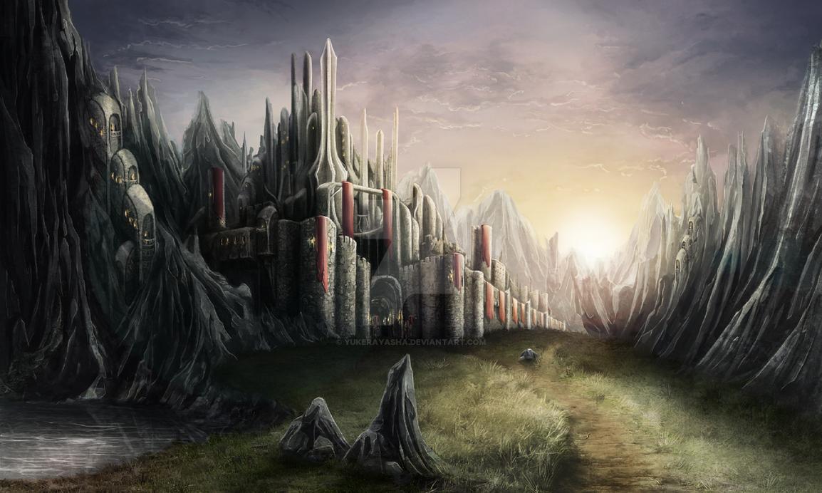 Mountain Fortress by YukeraYasha