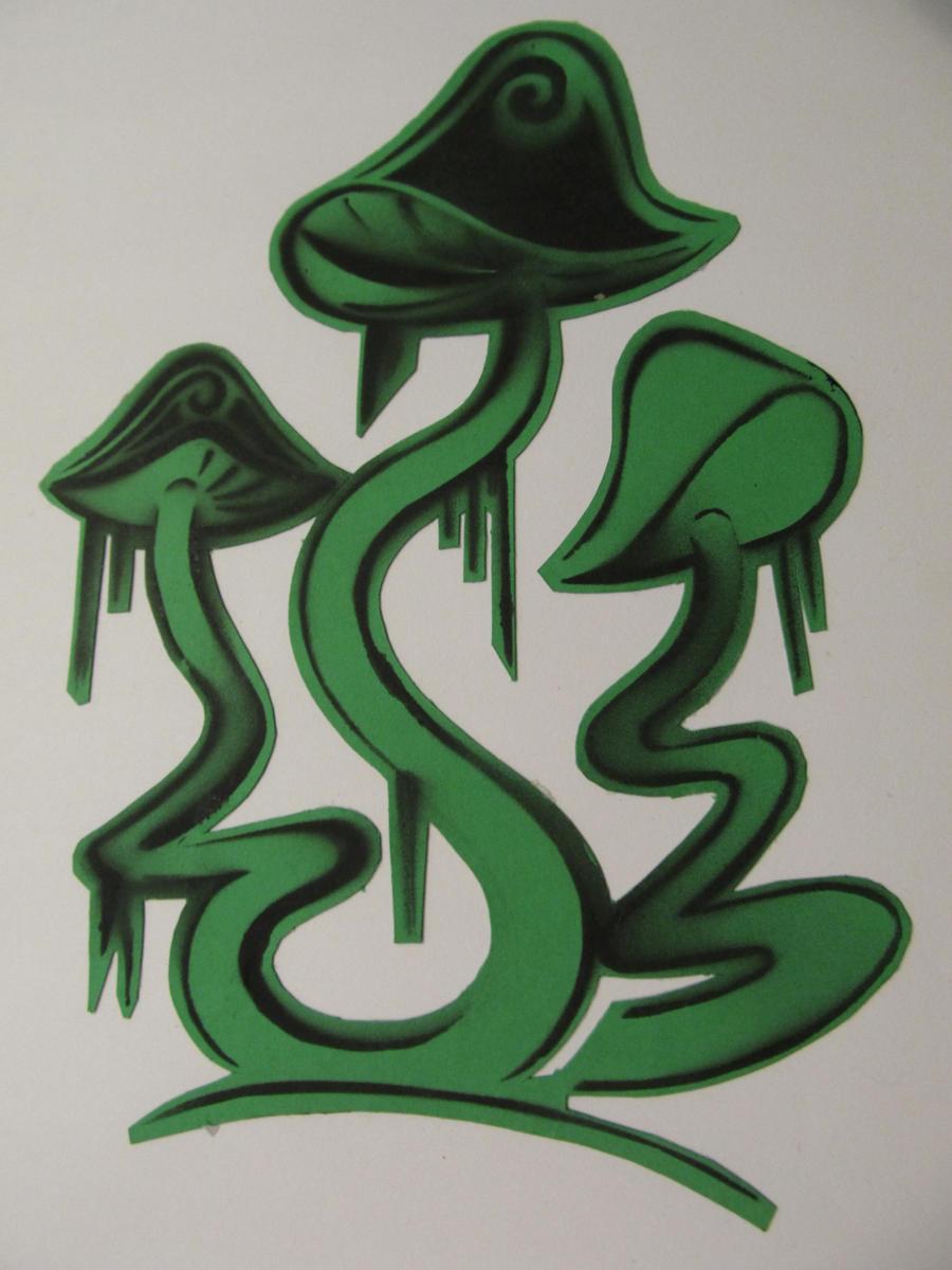 Mushroom stencil by Kitel7997 on DeviantArt