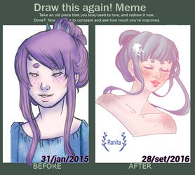 Meme: Before And After -  Older Ranita by O-Cholz