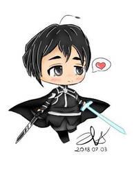  Chibi  Kirito  *.+ Sword Art Online .*+ by xxiskierkaxx