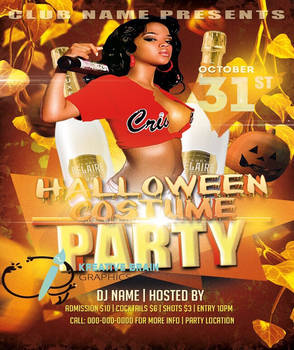 Premade Costume party flyer