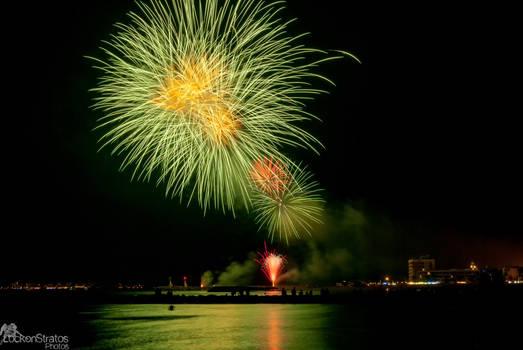 Fireworks at Le Grau du Roi