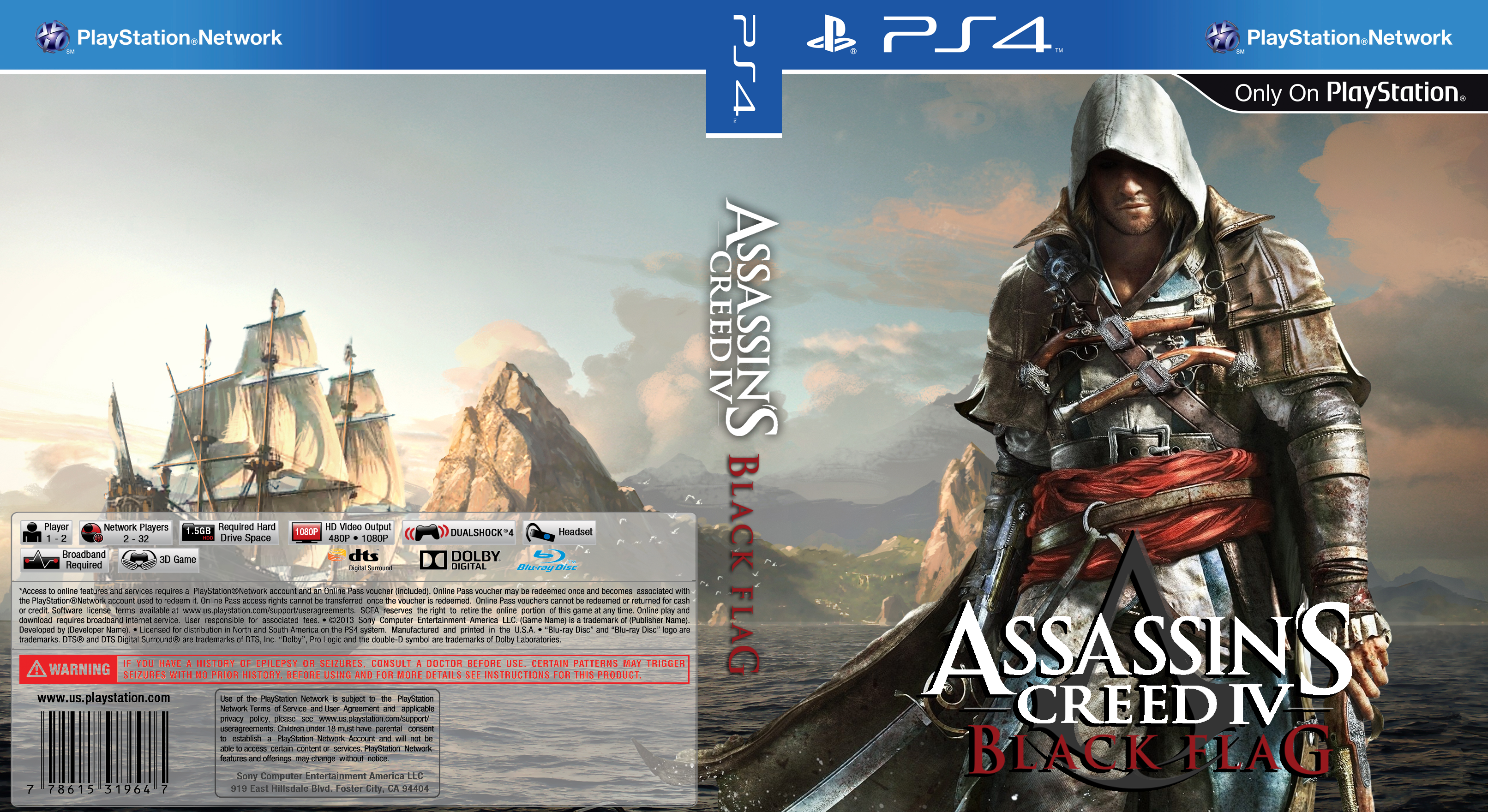 Assassin S Creed Black Flag Ps4 Custom Cover By Nickrhea On